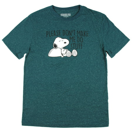 Peanuts Snoopy Please Don't Make Me Do Stuff Graphic T-Shirt - Snoopy Peanuts