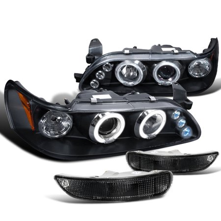 1997 Toyota Corolla Headlights (Spec-D Tuning 1993-1997 Toyota Corolla Led Projector Headlights + Black Bumper Parking Lamp (Left + Right) 1993 1994 1995 1996 1997)