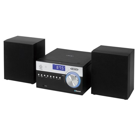 Jensen Modern Black Series JBS-200B Bluetooth CD Music System, NFC, Digital AM/FM Stereo with Speakers, Aux-In, & Remote Control (Black Series Edition