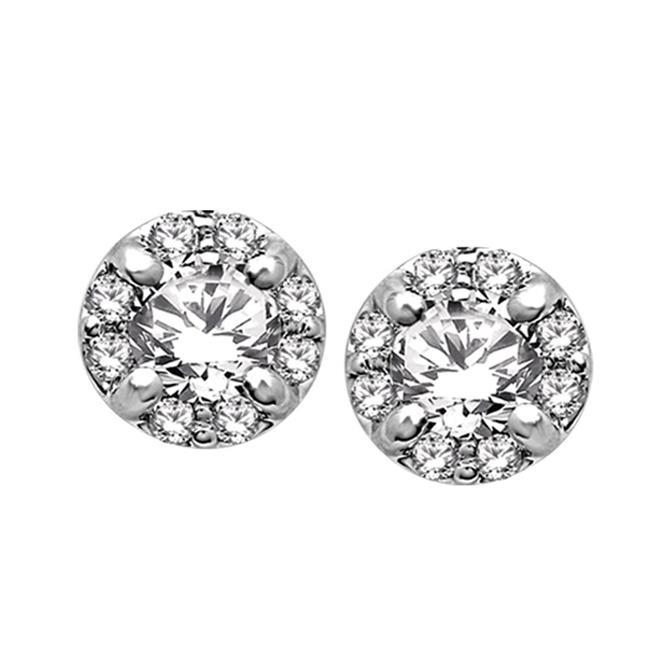59256W-E-A3 14K 1 Carat Diamond Stud Earrings