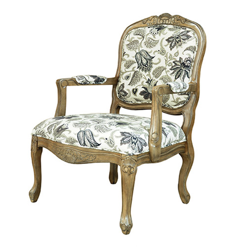 Crestview Collection Huntley Pattern Fabric Arm Chair