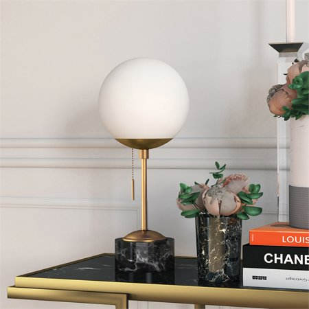 Art Deco Marble Table Lamp - image 7 of 10