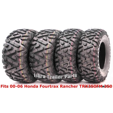 Set 4 ATV tires 24x8-12 & 24x9-11 00-06 Honda Fourtrax Rancher TRX350FM 350