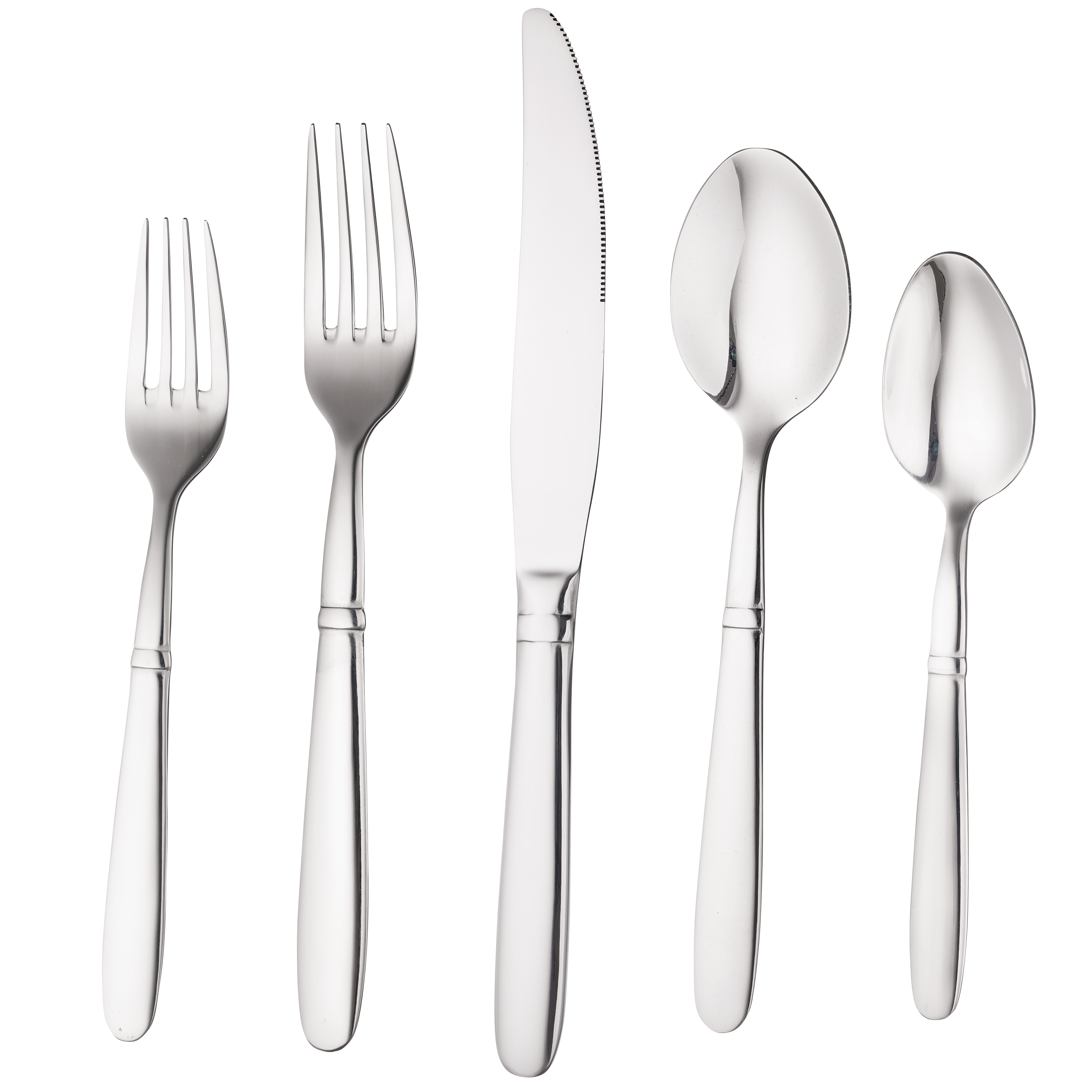 Bruntmor, CRUX Sterling Quality Silverware Royal 20 Piece Flatware Cutlery Set, 18 10 Stainless Steel, Service... by