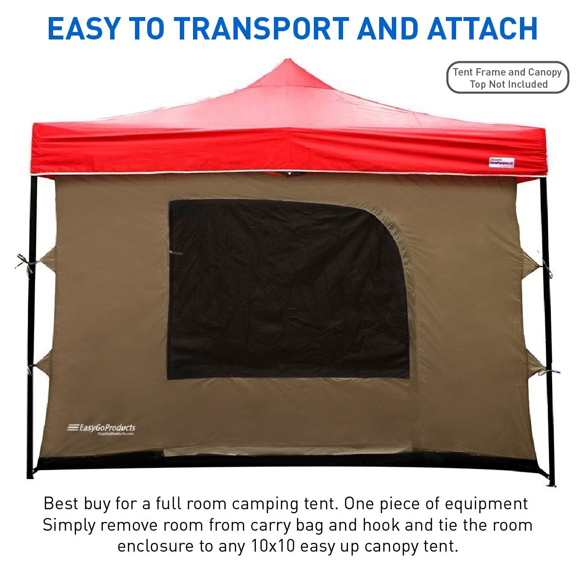 C&ing Tent attaches to any 10u0027x10u0027 Easy Up Pop Up Canopy Tent w/4 Walls Mesh Ceiling PVC Floor 2 Doorsu0026 4 Windows - Walmart.com  sc 1 st  Walmart & Camping Tent attaches to any 10u0027x10u0027 Easy Up Pop Up Canopy Tent w ...