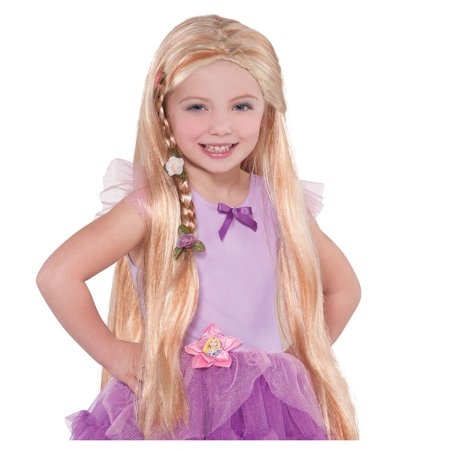 Long Rapunzel Wig (Suit Yourself Rapunzel Wig for Children, One Size, Measures 22 Inches Long, Features a Front Braid with Fabric)