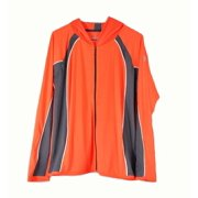 Under Armour Womens Large Neon Orange with Grey Yoga Heatgear Zip Up Jacket NWOT