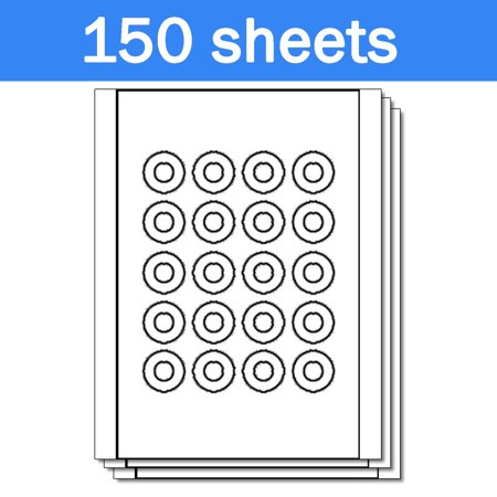 Neato CLP-192265 Compatible Disc CD DVD Core Labels on Sheets ( 20 Labels Per Sheet, White, 150 Sheets )