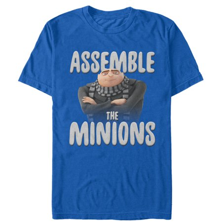 Despicable Me Men's Gru Assemble the Minions T-Shirt](Purple Minion Shirt)