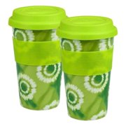 Waechtersbach Set of 2 Medium Travel Mugs Batik - Green