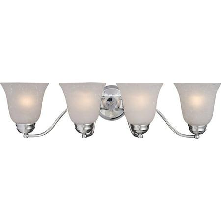 Bathroom Vanity 4 Light Bulb Fixture With Polished Chrome Finish Iron Material Medium Bulbs 28 inch 400