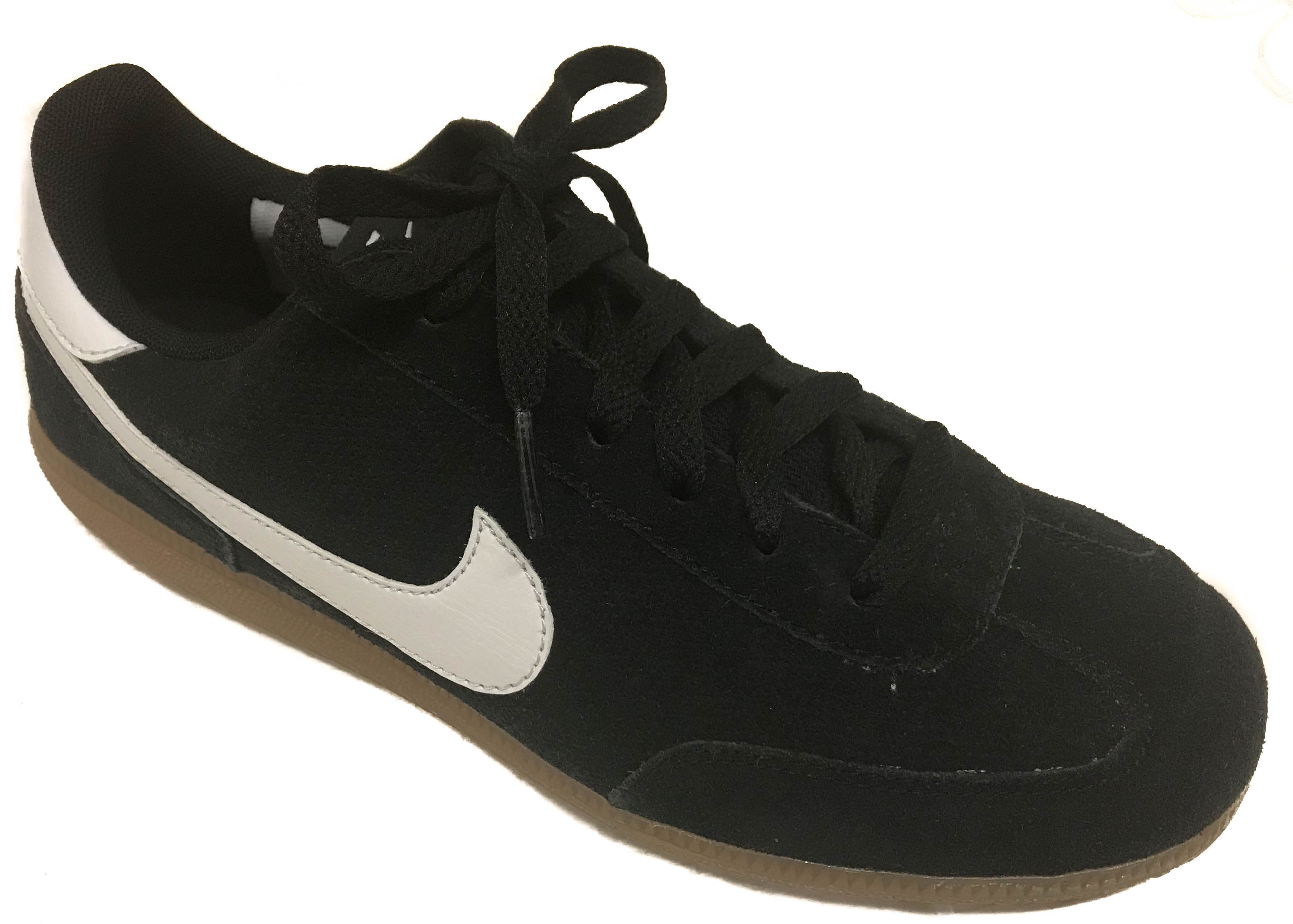 reputable site 6f793 abfaa ... uk nike cheyenne 2013 gs youth skate shoes black white gum med brown  5519b c1128