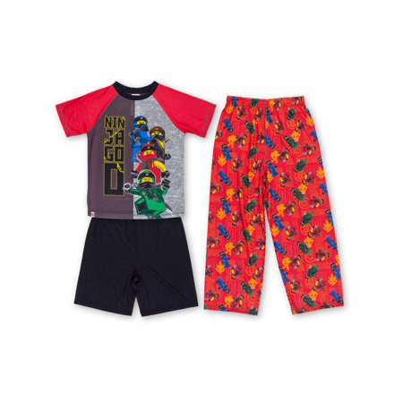 Boys' Lego Ninjago 3 Pajama Sleep Set (Little Boy & Big Boy)](Glow In The Dark Skeleton Pajamas Boys)