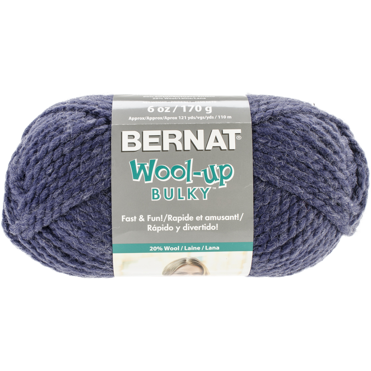 Spinrite Wool-Up Bulky Yarn, Denim Multi-Colored