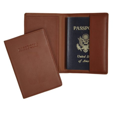 Royce Leather Leather Passport Holder and Travel Document Organizer
