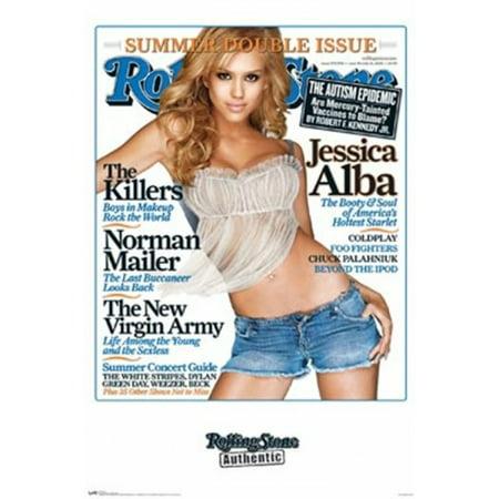 Jessica Alba Halloween (Rolling Stone - Jessica Alba Laminated Poster Print (22 x)