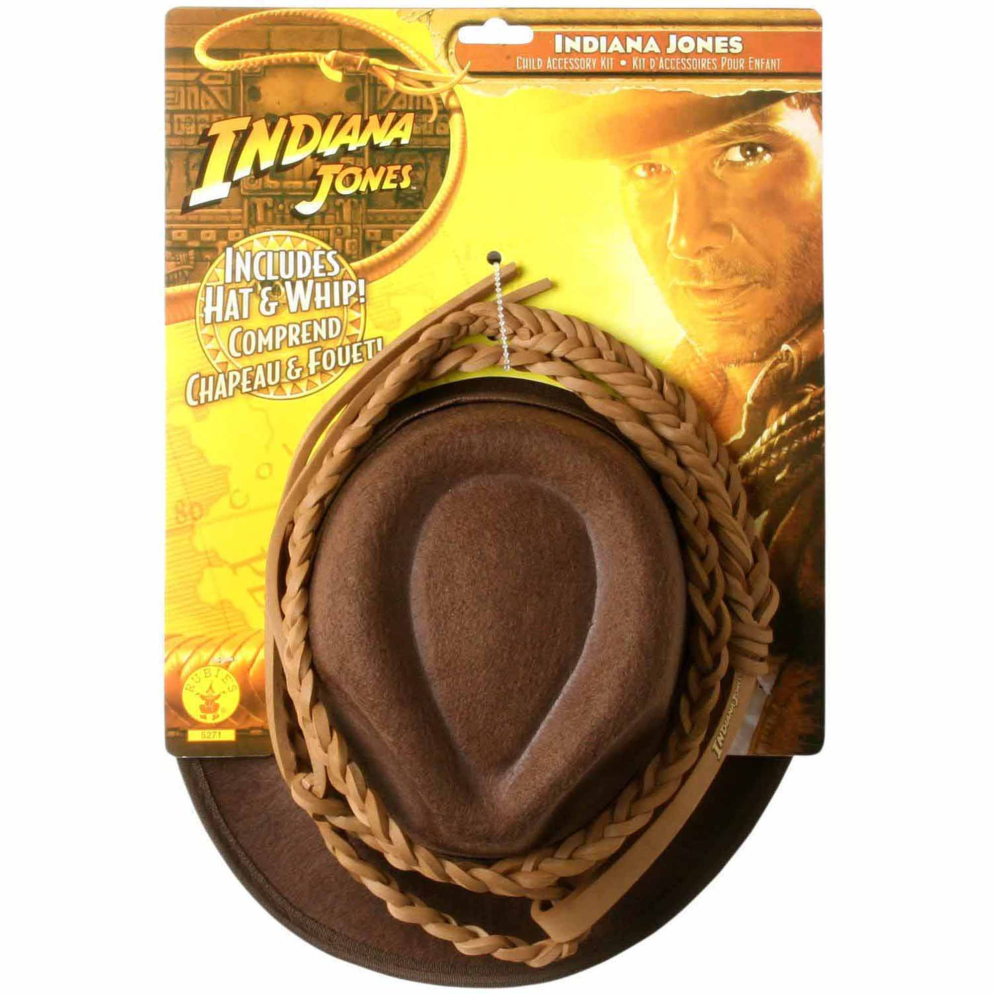 Indiana Jones Hat and Whip Set Child Halloween Accessory