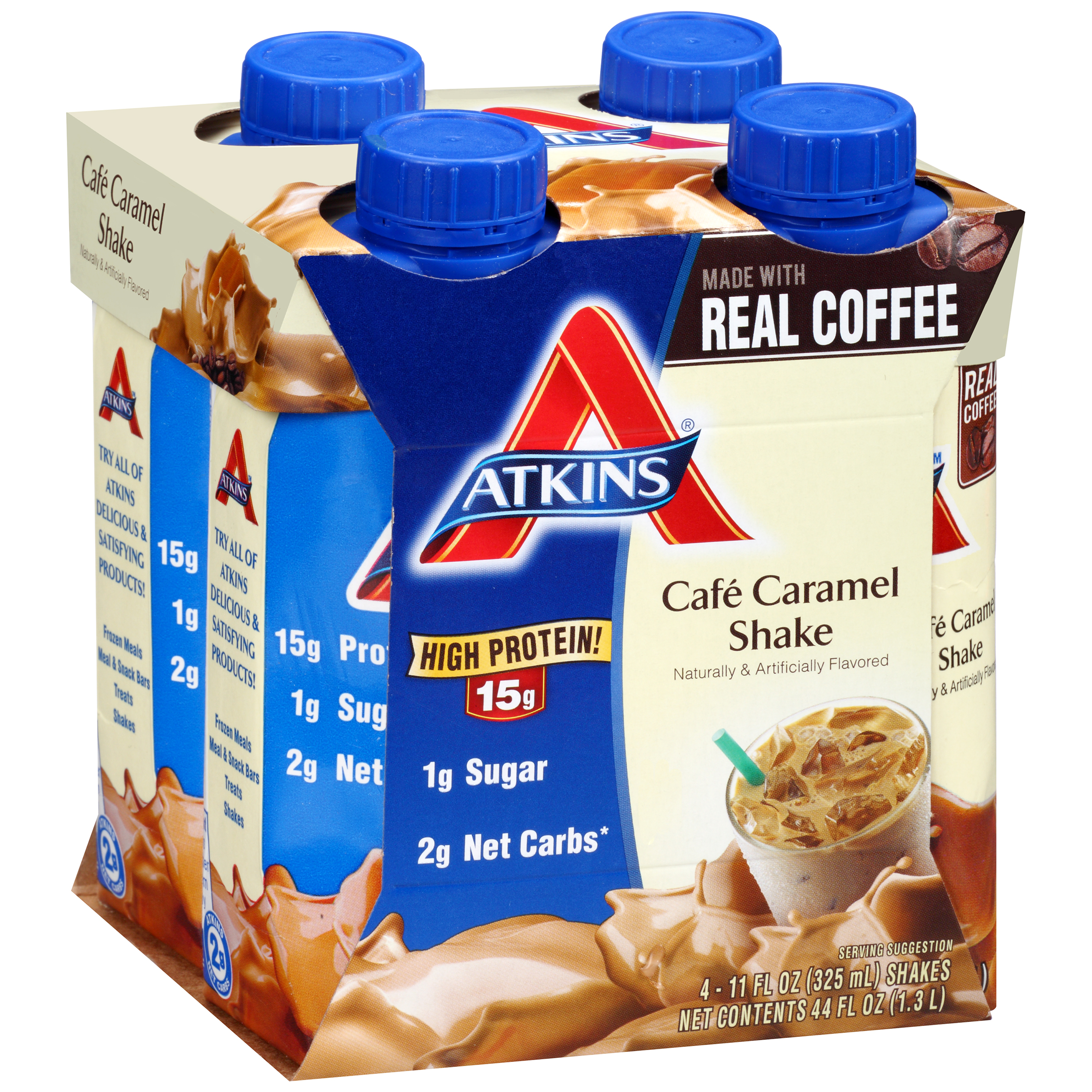 Atkins Ready To Drink Shakes Caf�� Caramel Latte 4-pack