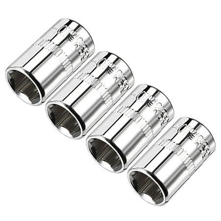 4Pcs 1/4-inch Drive 10mm Cr-V 6-Point Shallow - Drive 10 Mm Plug