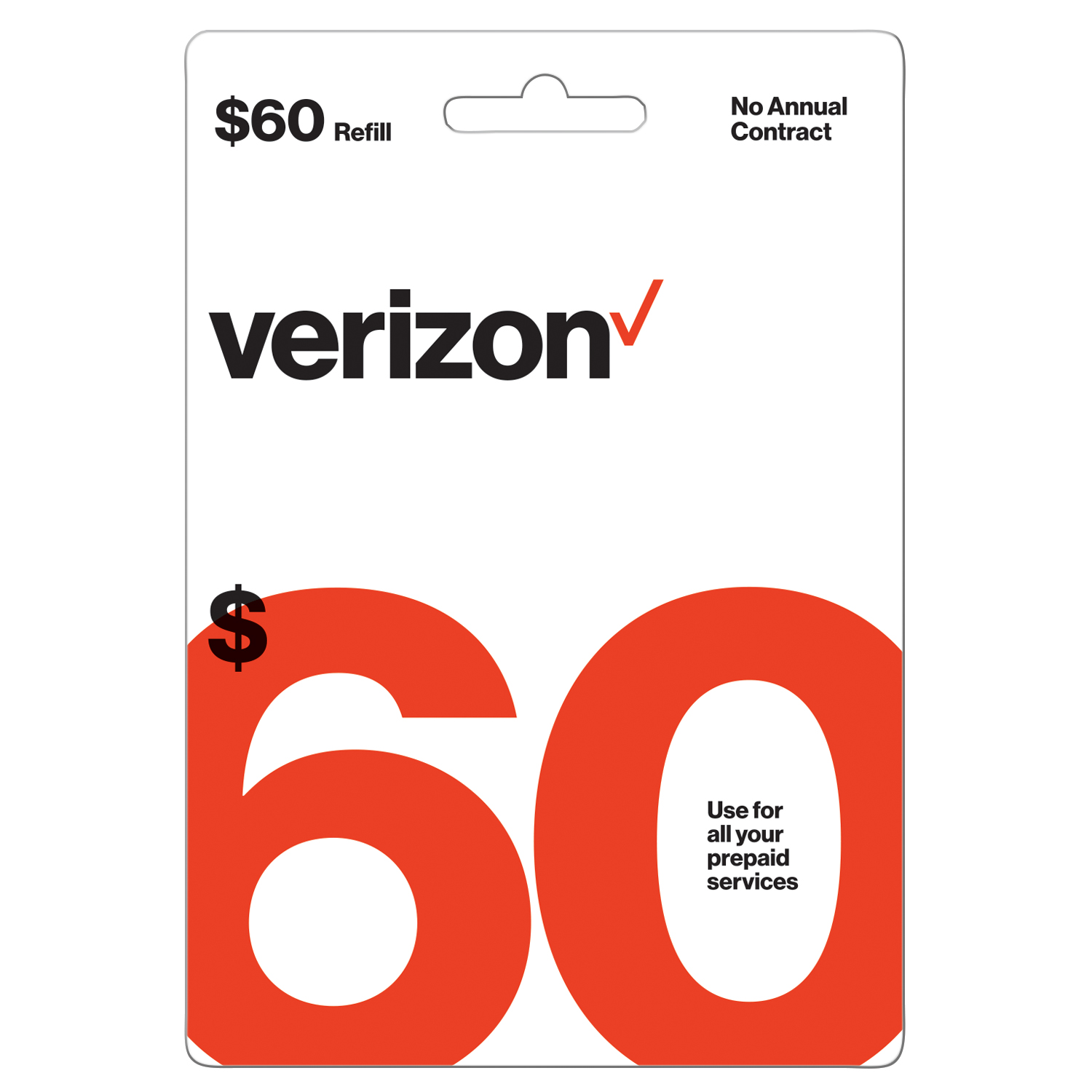 Verizon Wireless $60 Prepaid Refill Card (Email Delivery)