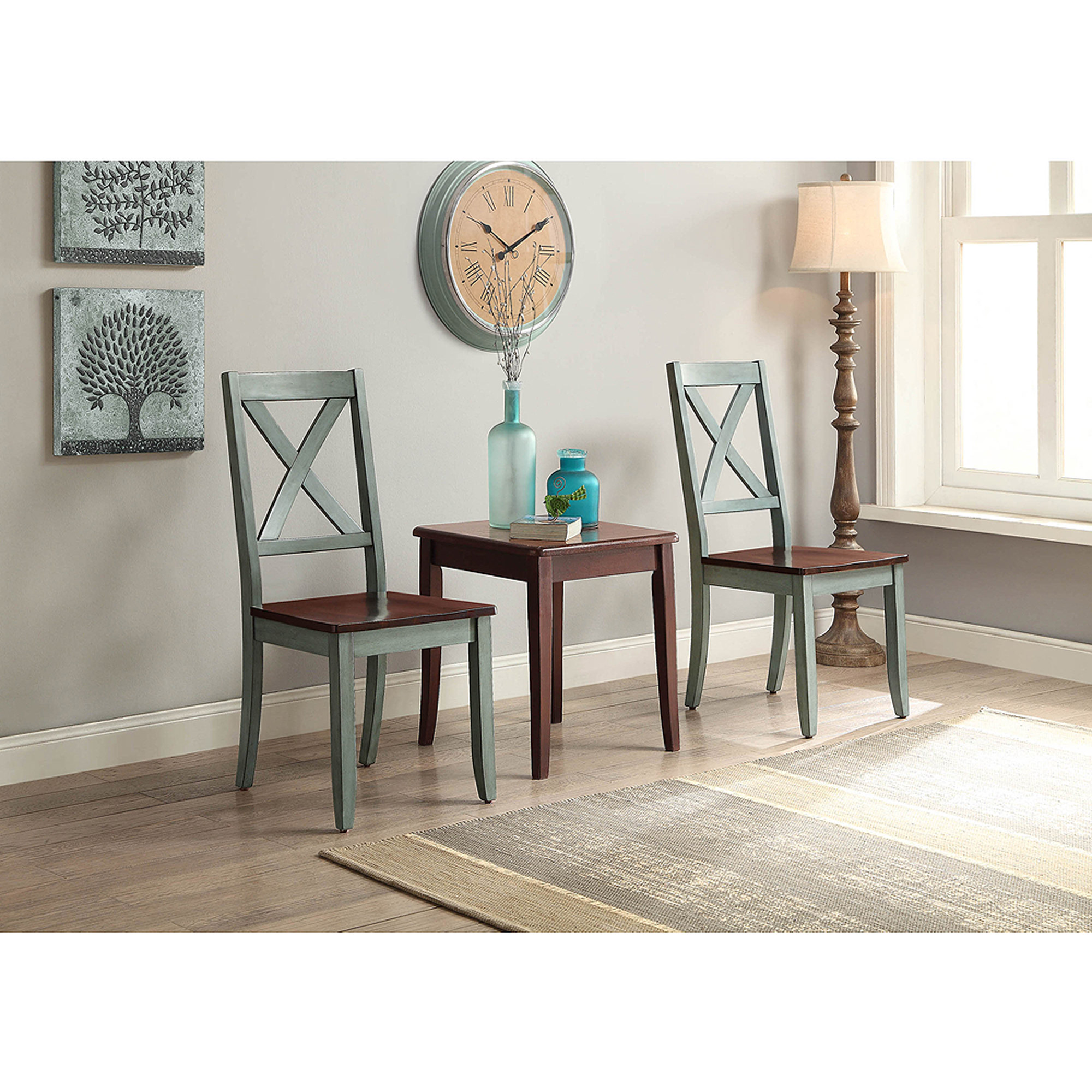 Better Homes And Gardens Maddox Crossing Dining Chair, Blue, Set Of 2    Walmart.com