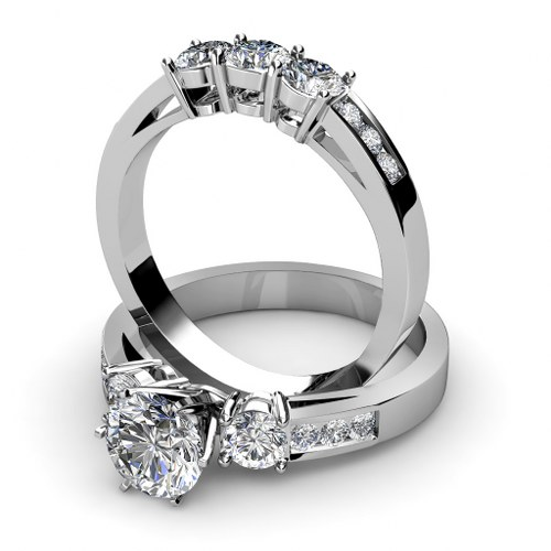 2.60CT Round Cut Diamonds Bridal Set by PrimeStyle