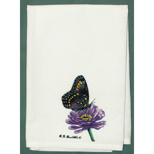 Betsy Drake Interiors Butterfly Spotted Hand Towel (Set of 2)