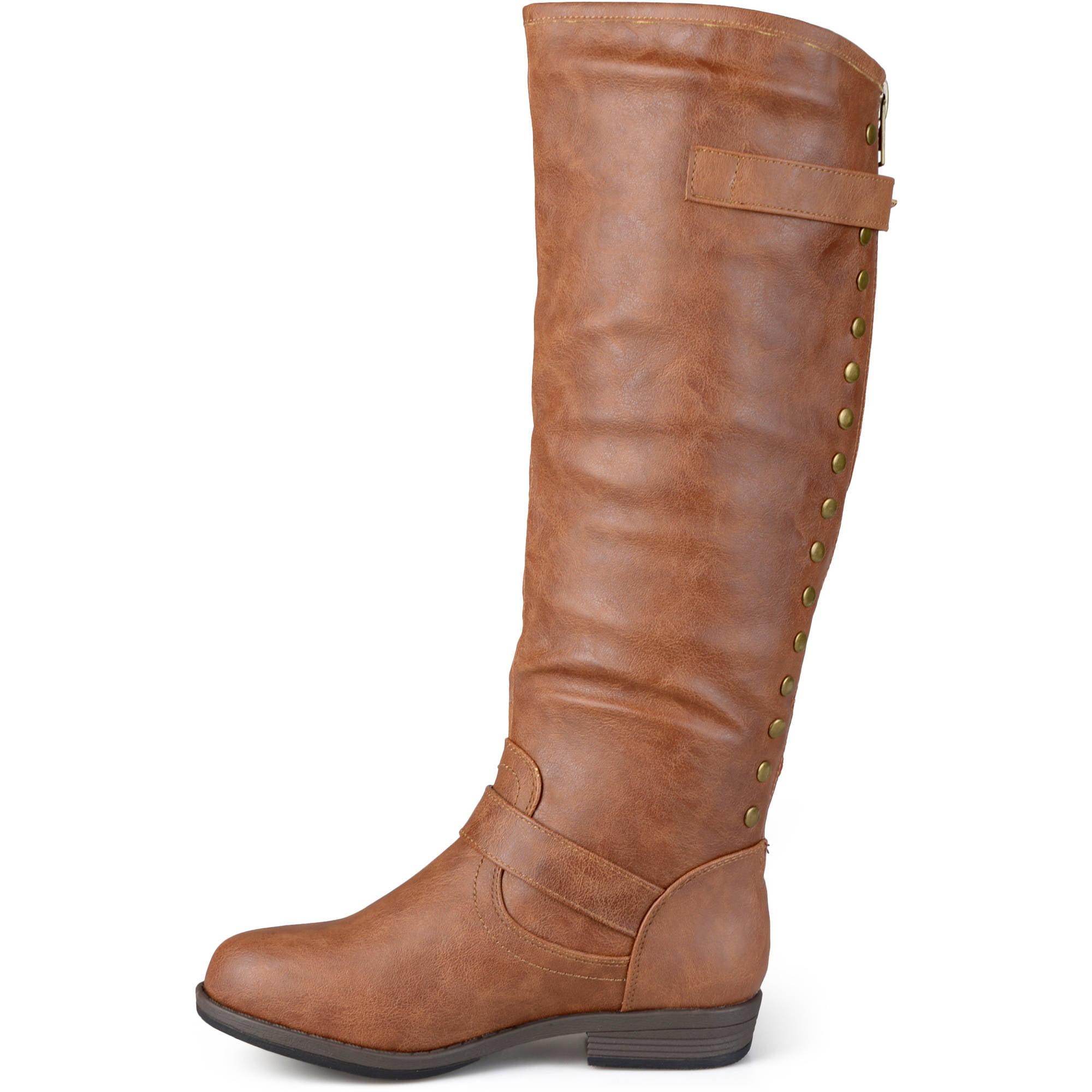Brinley Co. Women's Knee-High Studded Riding Boot