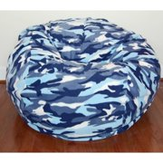 Ahh Products Washable Anti-pill Fleece Blue Camouflage 36-inch Bean Bag Chair