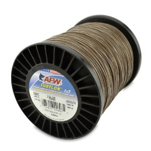 American Fishing Wire 135-Pound Surflon, Camo Brown, 30'