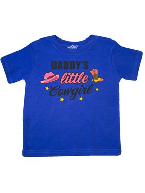 Daddys Little Cowgirl with Cowgirl Hat and Boots Toddler T-Shirt