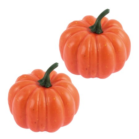 Unique Bargains 2 Pack, Halloween Christmas Home Artificial Pumpkins Vegetables Decoration - Unique Halloween Arts And Crafts