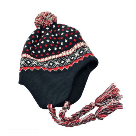 El Toro Knit Peruvian Beanie Hat - ONE SIZE FITS MOST - Navy Blue