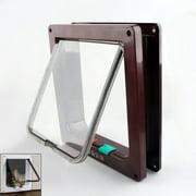 Small Medium 12lb Brown 4-Way Magnetic Lockable CAT Kitty Flap Door