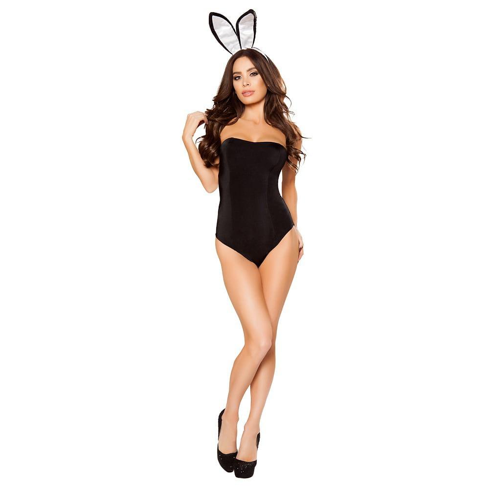 Playful Bunny Adult Costume Black - Small