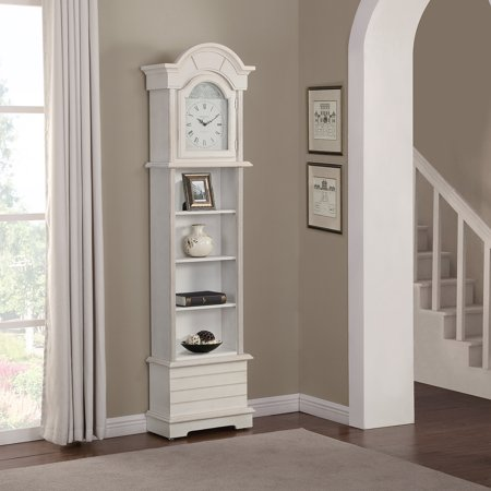 FirsTime Shiplap 72'' Grandfather Clock Curio Cabinet Floor Clock