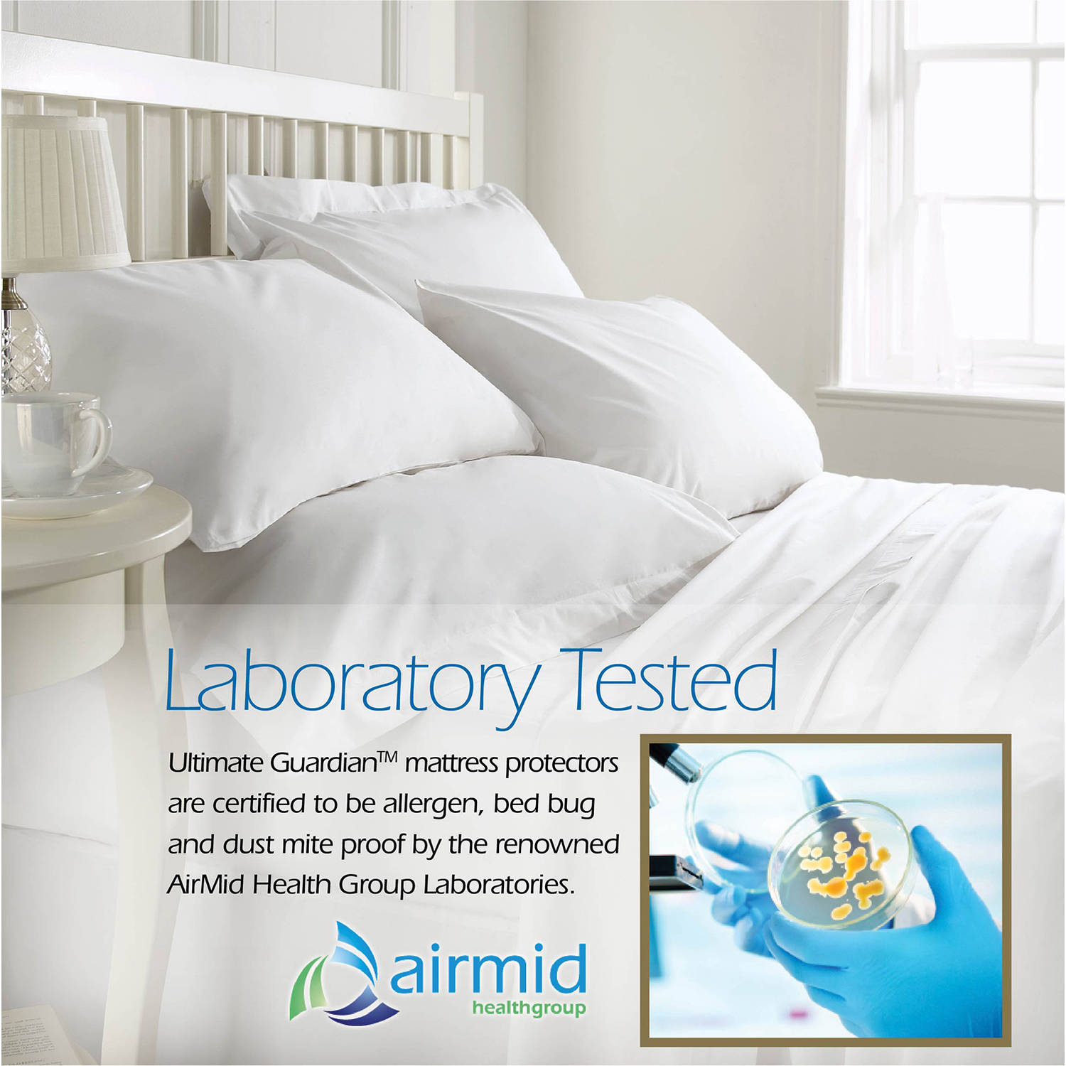 ultimate guardian, lab tested, 100 percent bed bug proof mattress