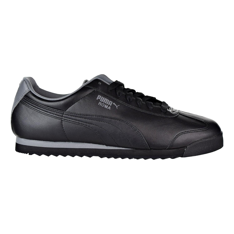 dd857e41a03 PUMA - Puma Roma Basic Men s Shoes Black Grey 353572-78 - Walmart.com