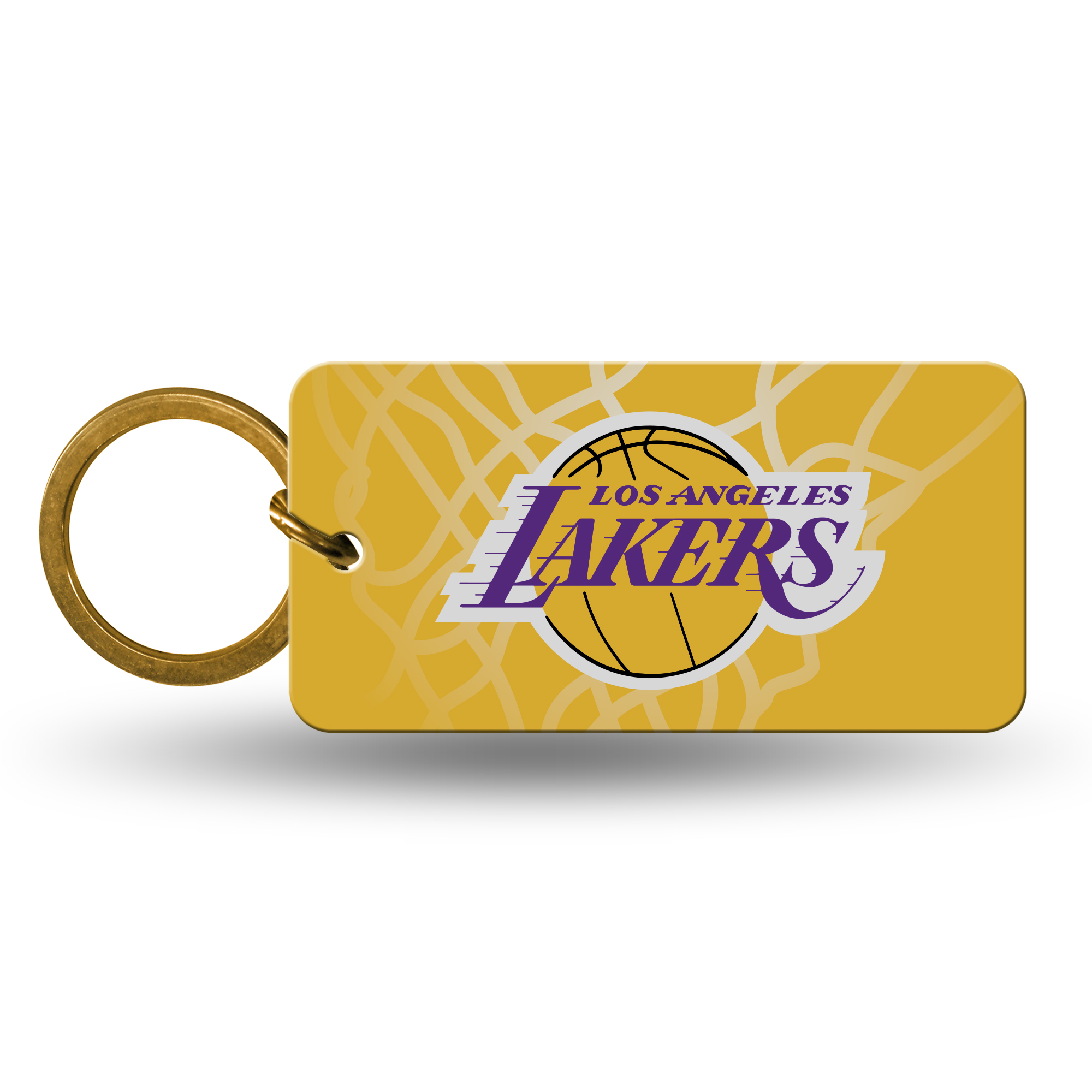 Los Angeles Lakers Official NBA 2 inch  Crystal View Key Chain Keychain by Rico Industries