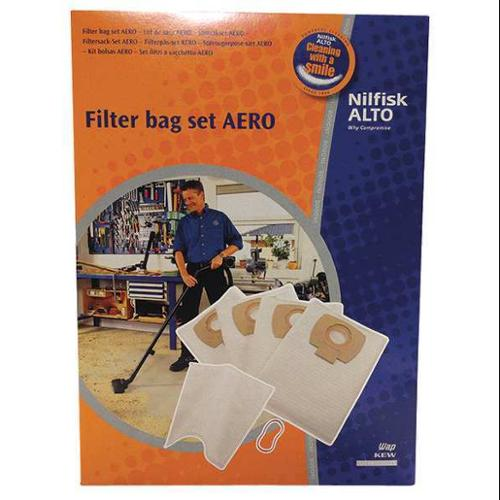 NILFISK-ALTO 302002404 Bag Set, HEPA Efficiency