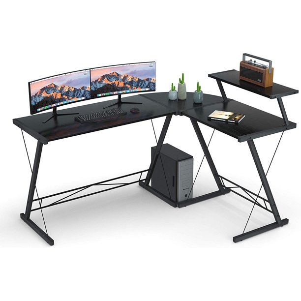L Shaped Desk Home Office Desk , Coleshome Computer Desk
