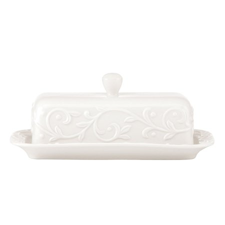 Opal Innocence Carved Butter Dish, White, Carved All Set porcelain for Opal 4Piece Crafted Innocence China Dinnerware Sauce and by Stripe of Dish.., By Lenox Ship from US ()