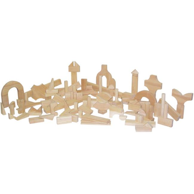 Wood Designs 60400 Hard Maple Blocks Preschool Set With 24 Shapes And 111 Pieces by Wood Designs