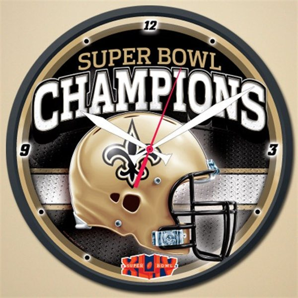 Wincraft New Orleans Saints Super Bowl 44 Champions Round Wall Clock