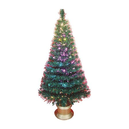 Northlight Christmas Central DAK 0326-180 6-ft Pre-Lit Color Changing Fiber Optic Artificial Christmas Tree