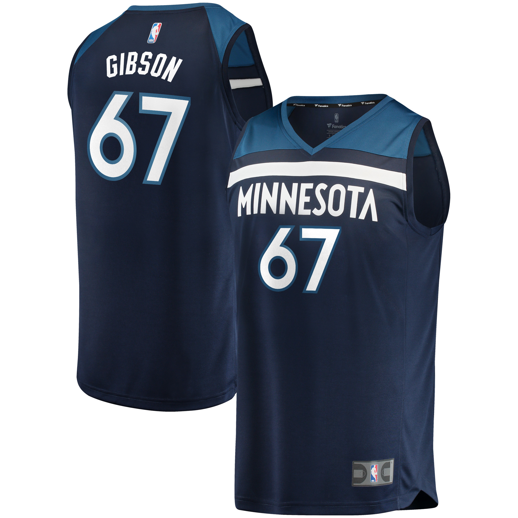 Taj Gibson Minnesota Timberwolves Fanatics Branded Fast Break Replica Player Jersey Green - Icon Edition - Navy