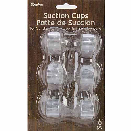 Candle Suction Cups: Clear, 6 pack