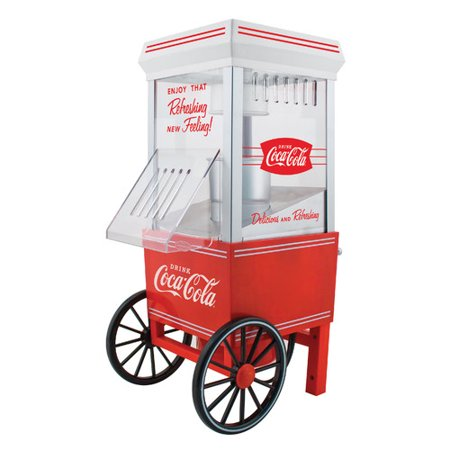 Nostalgia Ofp501coke Coca Cola 12 Cup Hot Air Popcorn Maker