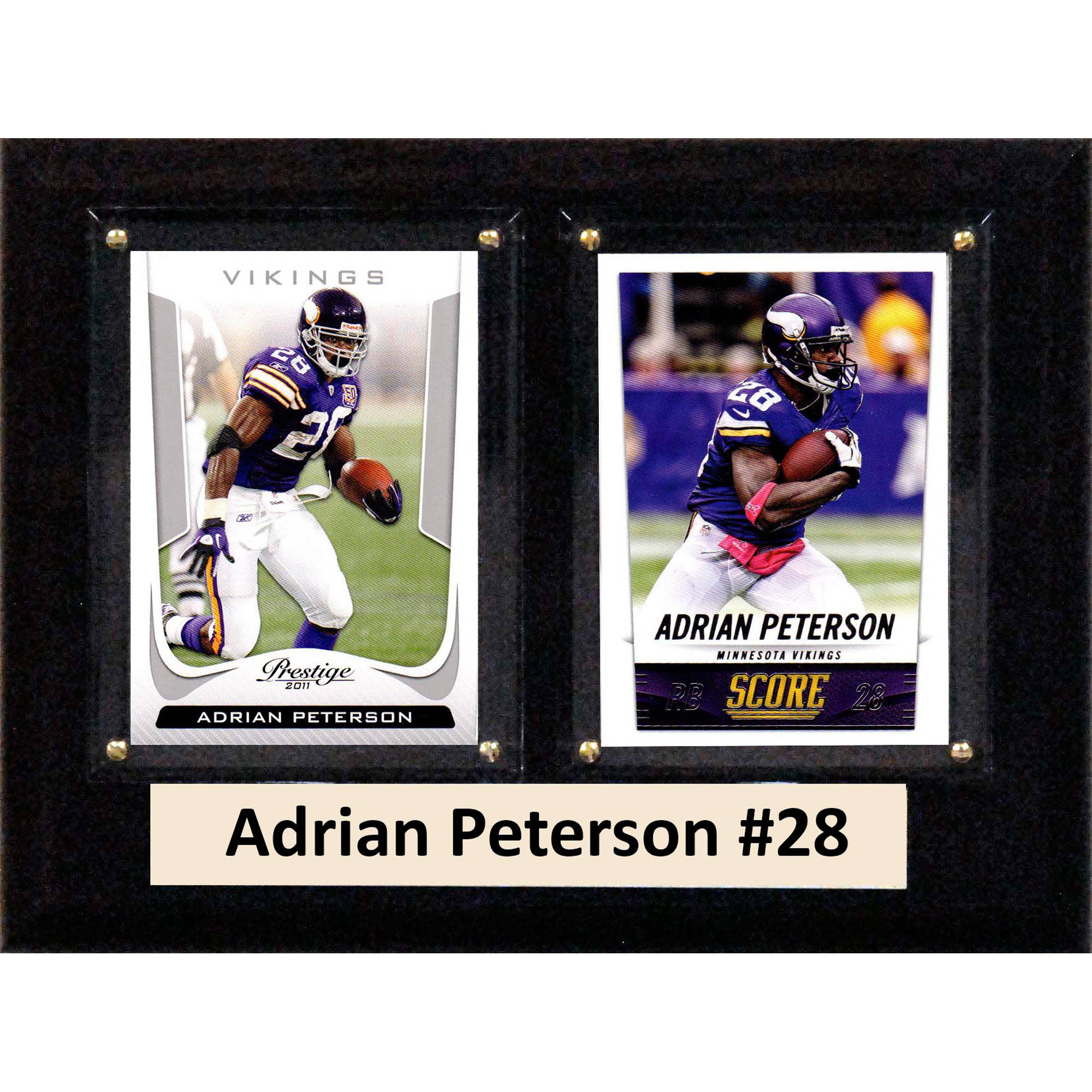 C&I Collectables NFL 6x8 Adrian Peterson Minnesota Vikings 2-Card Plaque