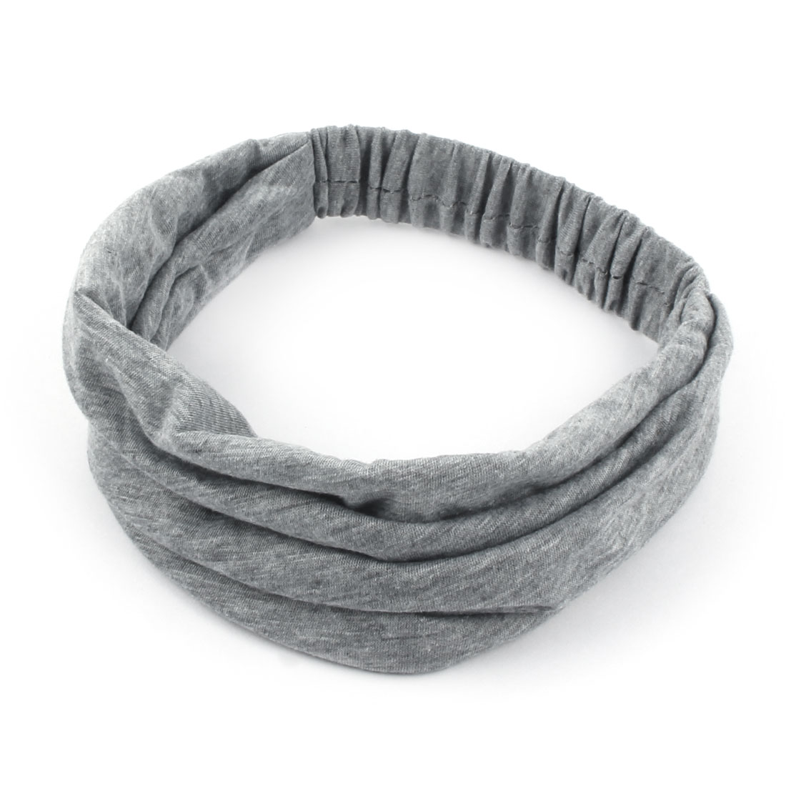 Outdoor Running Sports Cotton Blends Elastic Headwraps Headband Hair Band Gray - image 3 de 5